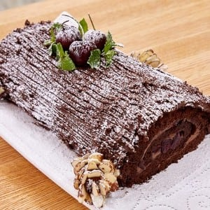 Chocolate Cherry Bûche de Noël