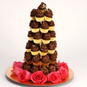 Chocolate Brownie Croquembouche