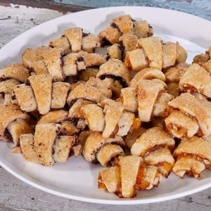 Rugelach Two Ways: Chocolate and Apricot