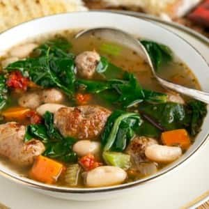Recipe: Hearty Greens & Sausage Soup
