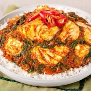 Halibut and Spinach Curry