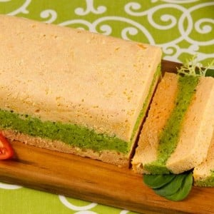 Layered Salmon and Pea Mousse