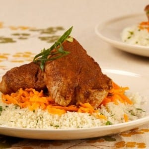 Moroccan-Spiced Pork Tenderloin With Carrot Salad