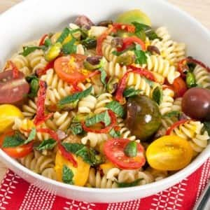Recipe: Fusilli with Tomatoes and Pistachios