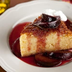 Recipe: Olive Oil Cake with Plum Compote