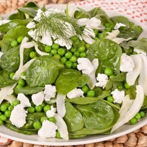 Pea, Fennel and Goat Cheese Salad