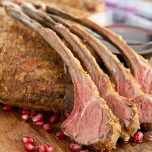 Rack of Lamb with Pomegranate Sauce