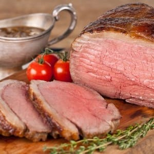 Roast Beef with Caramelized Onion Gravy