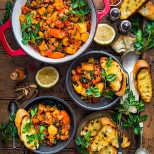 Recipe: Root Vegetable Stew with Rosemary Garlic Baguette