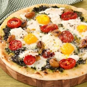 Roasted Tomato and Egg Pizza