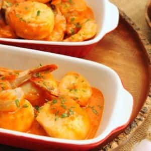 Scallops and Shrimp with Sherry Paprika