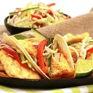 Recipe: Spicy Fish Tacos with Veggie Slaw