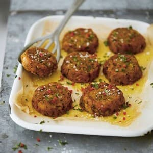 Recipe: Deliciously Ella's Spiced Potato Cakes with Garlicky Tomato Sauce
