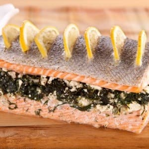 Recipe: Spinach & Feta Stuffed Salmon