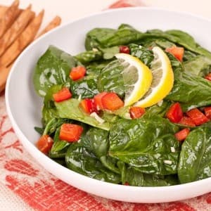 Spinach with Lemon Dressing
