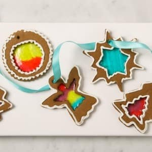 Stained Glass Gingerbread Ornaments