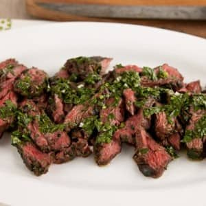 Recipe: Grilled Hanger Steak with Parsley Chimichurri