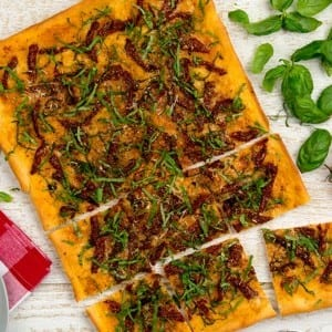 Recipe: Steven's Sun-Dried Tomato Pizza