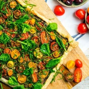 Recipe: Roasted Tomato and Olive Tart