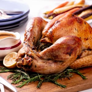 Recipe: Brined and Roasted Turkey with Simple Pan Gravy