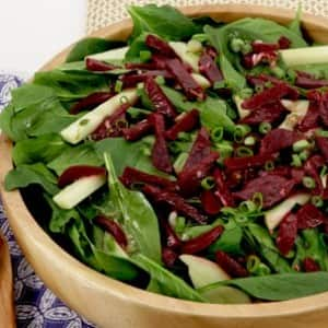 Beet, Apple and Spinach Salad