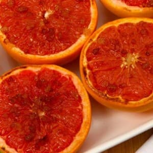 Broiled Grapefruit with Spiced Rum