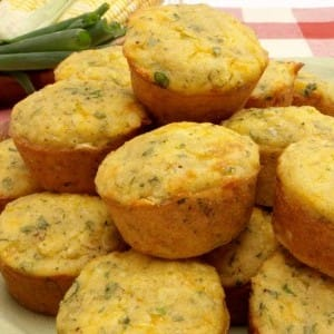 Corn Muffins with Green Onions