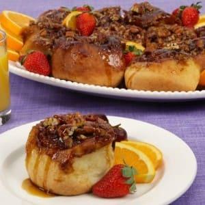 Gooey Pecan-Topped Cinnamon Buns