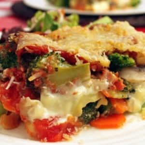 Lean and Fast Vegetable Lasagna
