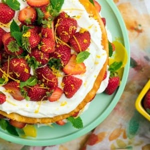 Recipe: Lemon Strawberry, Yogurt Shortcake