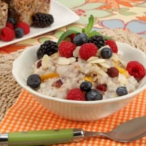 Mixed Grain Breakfast Pudding