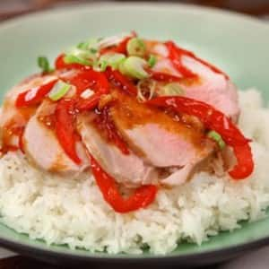 Pork with Spicy-Sweet Pepper Sauce
