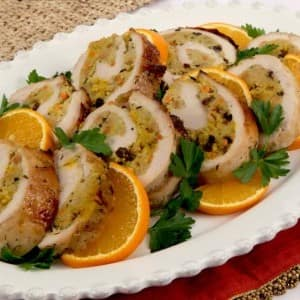Saffron Couscous Turkey Roll