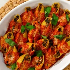 Veal and Spinach Stuffed Shells