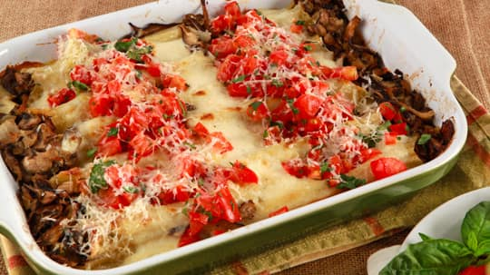 Many mushroom manicotti cbc life for Best dinner ideas ever