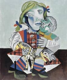Maya and the Doll, a 1938 oil on canvas by Pablo Picasso. The stolen paintings disappeared overnight between Monday and Tuesday.