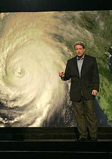 Al Gore in a scene from An Inconvenient Truth.