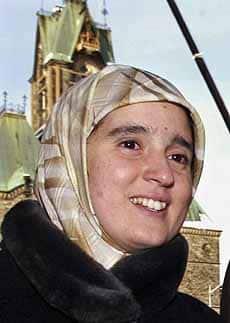 Monia Mazigh. Image vic CBC.