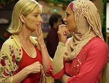 U.S. network Fox has agreed to create an Americanized version of Little Mosque on the Prairie, which features Sarah (Sheila McCarthy, left) and Rayaan (Sitara Hewitt).