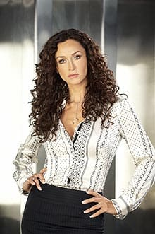 Sofia Milos, shown as Special Agent Bianca La Garda in The Border, won the Banff World Television Festival's award of excellence.