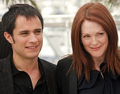 Mexican actor Gael Garcia Bernal, left, and American actor Julianne Moore are shown at the opening of Blindness in Cannes, France, in May.