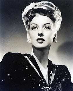 Ann Savage, pictured in this 1940 promotional photo, earned a cult following as a femme fatale in such 1940's pulp-fiction movies as Detour.