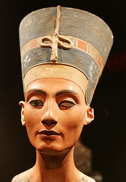 A bust of Nefertiti, on display at Berlin's Altes Museum, may be a fake, art historians say.