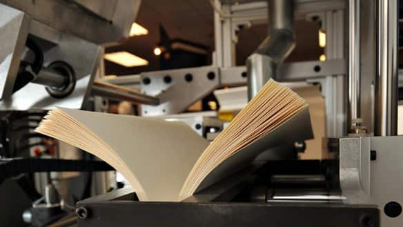 The Espresso book machine prints a book at the Blackwell bookstore in ...: www.cbc.ca/news/arts/books/story/2009/05/12/f-espresso-book-machine...