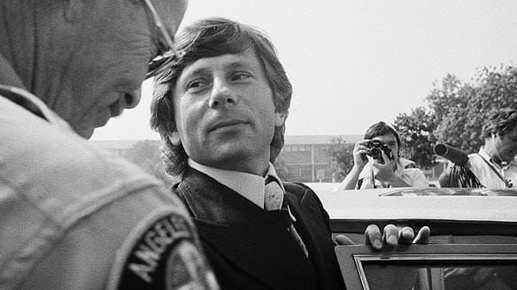 Film director Roman Polanski leaves court on Oct. 25, 1977, in Santa Monica, Calif. He has been on the run since fleeing charges of having sex with a minor.