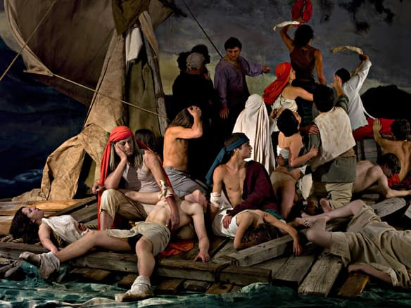 The Raft of the Medusa (100 Mile House) is a 2009 tableau vivant created by visual artist Adad Hannah of Montreal, one of the winners of a $15,000 mid-career award.