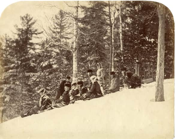 Prince Arthur and Group, Ottawa, Ont. (1870), by William Notman.
