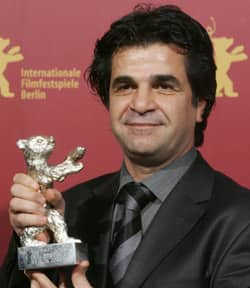 Iranian director Jafar Panahi is seen with the Silver Bear he won for his film Offside at the 56th Berlin International Film Festival ceremony in 2006. He has been sentenced to jail once again by Iranian authorities.