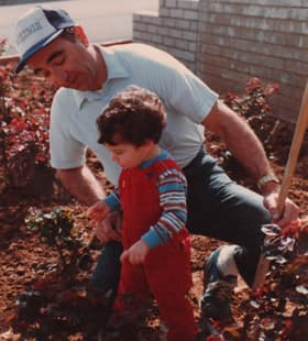 Justin Halpern and his dad in an undated photo.