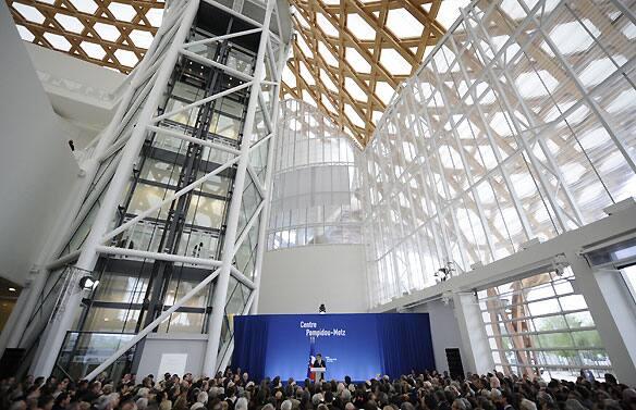 French President Nicolas Sarkozy spoke at the inauguration of the Centre Pompidou-Metz on Tuesday.